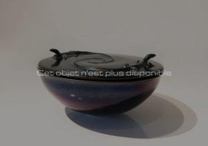 Boite «lézards», céramique irisée, 2019 | Jean Girel