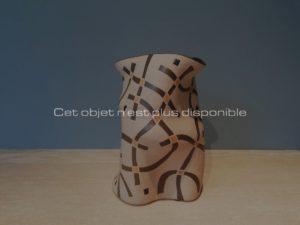 Haut vase polymorphe à décor géométrique, 2012 | Gustavo Perez