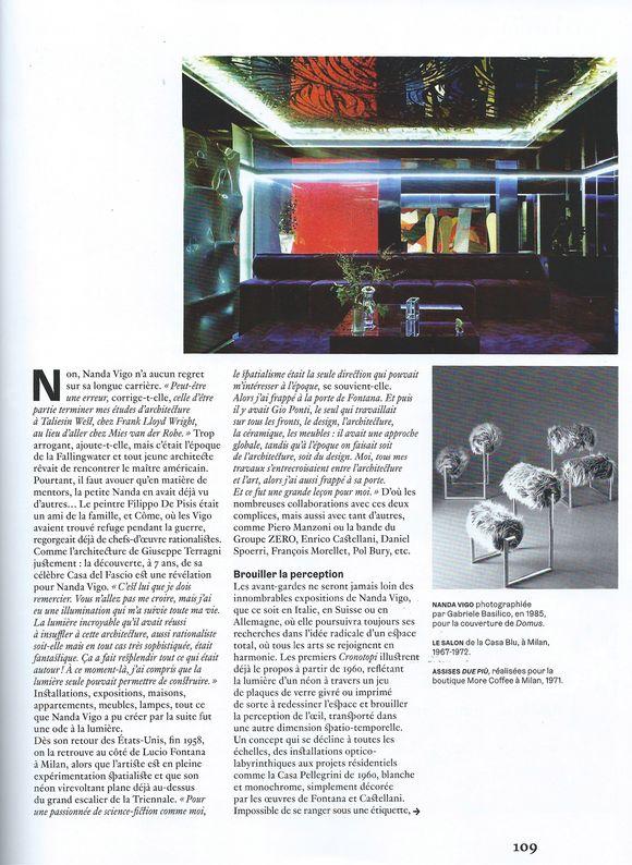 3-2020. AD - AD Nanda Vigo 1_ Galerie Arcanes l Arts Décoratifs XXe - Art Contemporain Paris