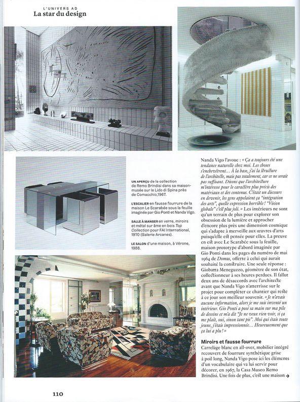 03-2020. AD - AD Nanda Vigo2_ Galerie Arcanes l Arts Décoratifs XXe - Art Contemporain Paris