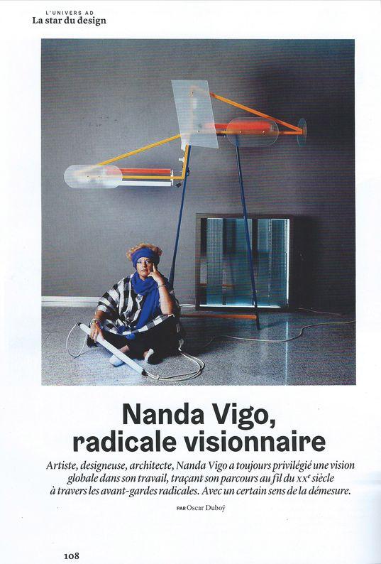 03-2020. AD - AD Nanda Vigo_ Galerie Arcanes l Arts Décoratifs XXe - Art Contemporain Paris