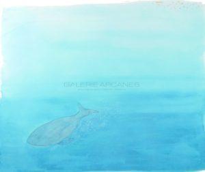 La Baleine bleue, aquarelle sur papier, 2020 | Clara Baum