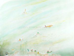 La rivière, aquarelle sur papier, 2020 | Clara Baum