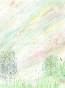 «Plonger», aquarelle sur papier, 2020 | Clara Baum