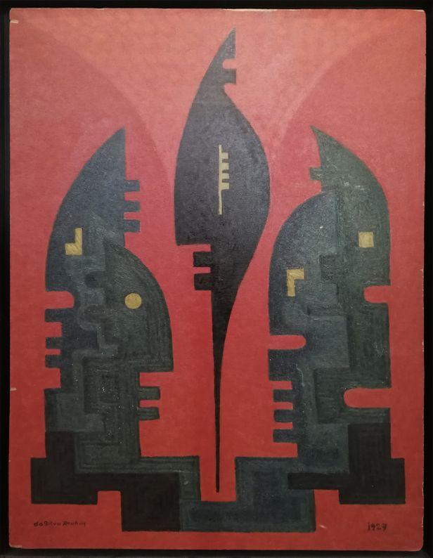Da Silva Burhns - Huile sur panneau_ Galerie Arcanes l Arts Décoratifs XXe - Art Contemporain Paris