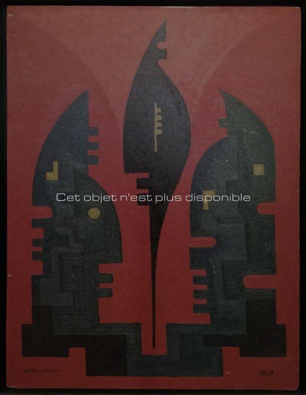 Non disponibles - Da Silva Burhns - Huile sur panneau_ Galerie Arcanes l Arts Décoratifs XXe - Art Contemporain Paris_