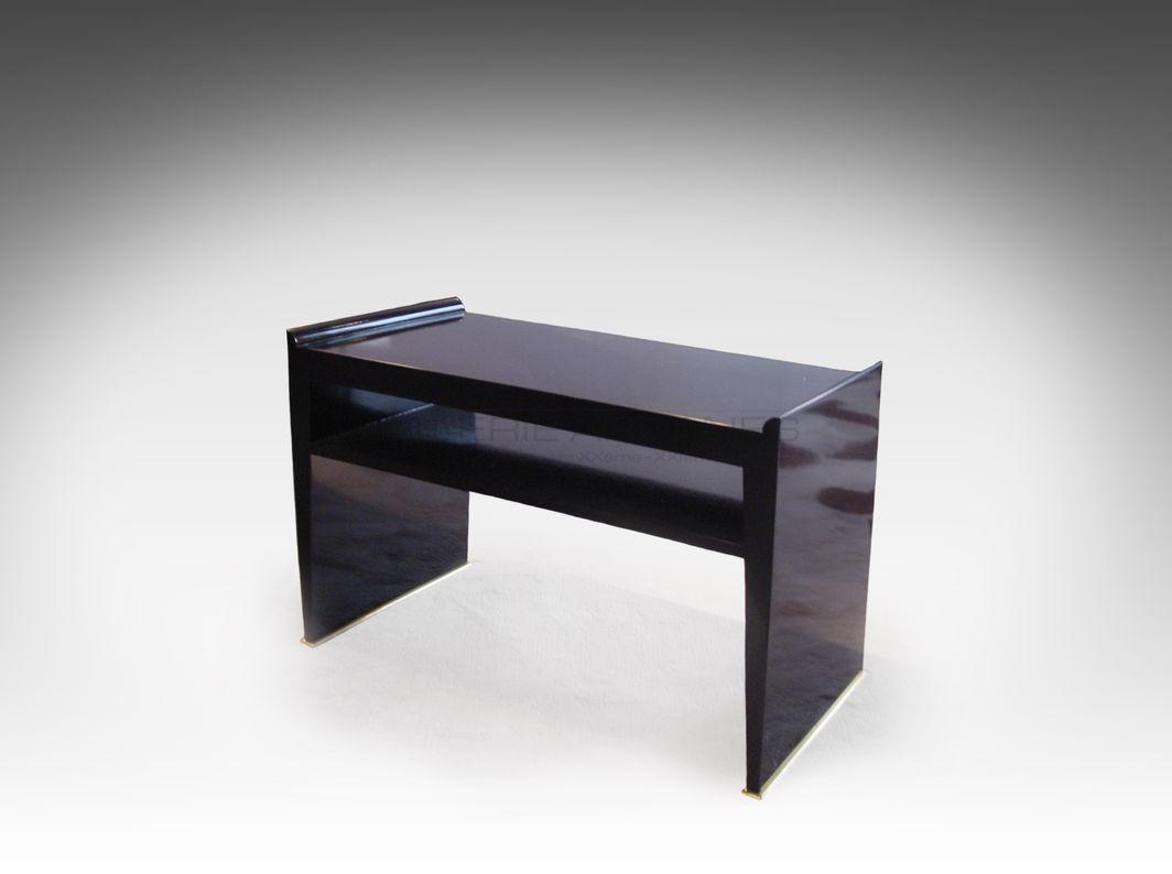 Dominique-Table d_appoint laquée noir_ Galerie Arcanes l Arts Décoratifs XXe - Art Contemporain Paris