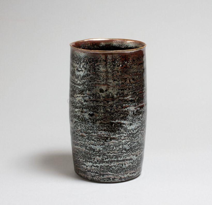 Hermans Valérie - 36. Large vase cylindrique filigrané_ Galerie Arcanes l Arts Décoratifs XXe - Art Contemporain Paris