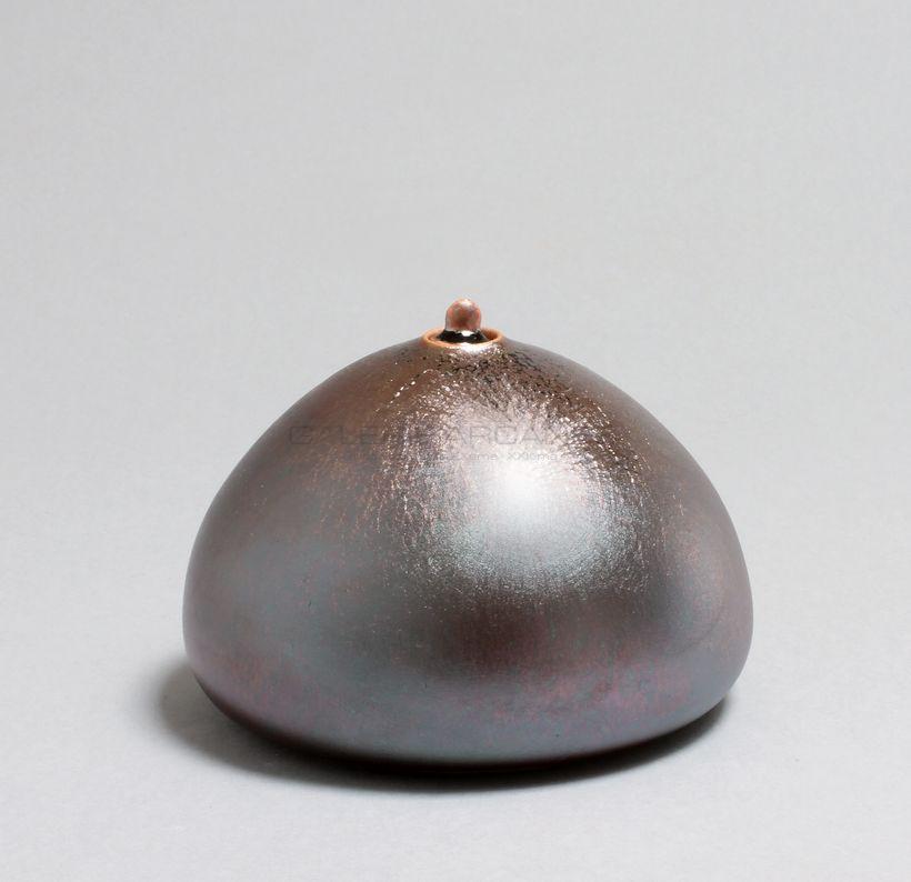 Hermans Valérie - Boîte pansue aplatie moirée _ Galerie Arcanes l Arts Décoratifs XXe - Art Contemporain Paris
