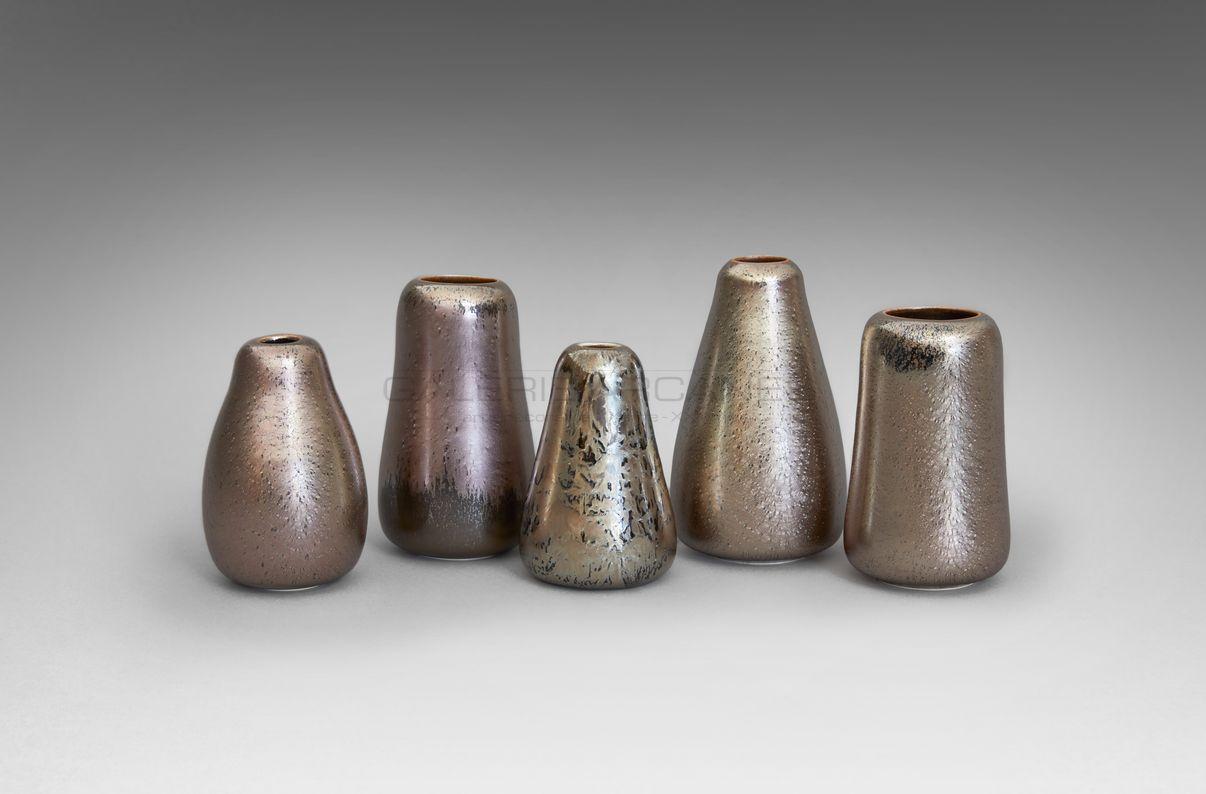 Hermans Valérie - Ensemble de petits vases piriformes bis_ Galerie Arcanes l Arts Décoratifs XXe - Art Contemporain Paris