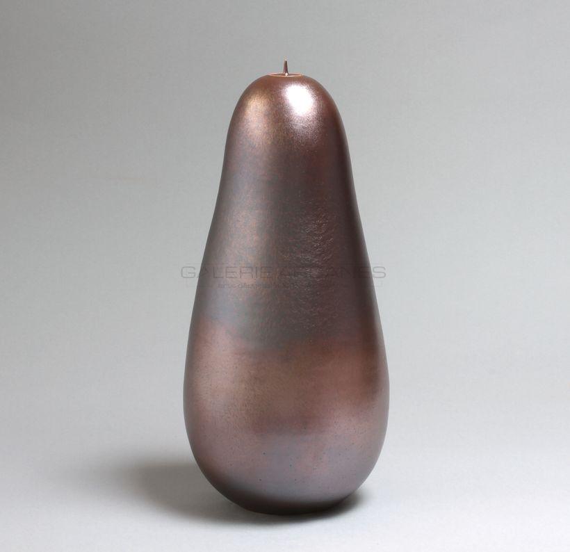 Hermans Valérie - Haute boîte piriforme moirée bis_ Galerie Arcanes l Arts Décoratifs XXe - Art Contemporain Paris