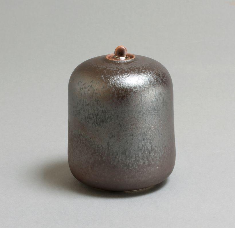 Hermans Valérie - Petite boîte bleue cylindrique _ Galerie Arcanes l Arts Décoratifs XXe - Art Contemporain Paris