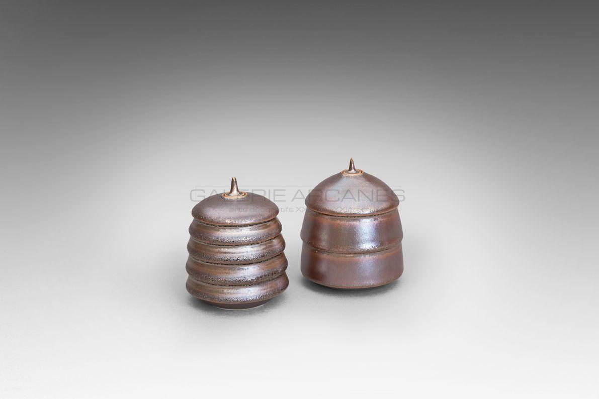 Hermans Valérie - Petits lampions rose cuivre bis_ Galerie Arcanes l Arts Décoratifs XXe - Art Contemporain Paris