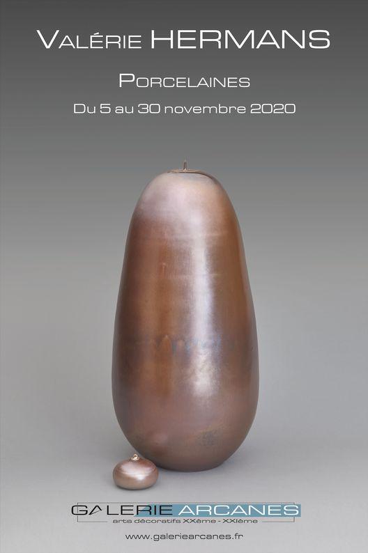 Hermans Valérie - Valérie Hermans Pocelaine_ Galerie Arcanes l Arts Décoratifs XXe - Art Contemporain Paris