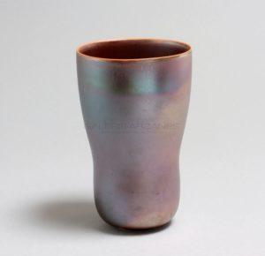 Vase calice irisé bleu | Valérie Hermans