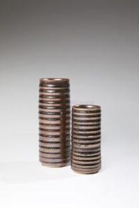 Vases rouleau métallescents | Valérie Hermans
