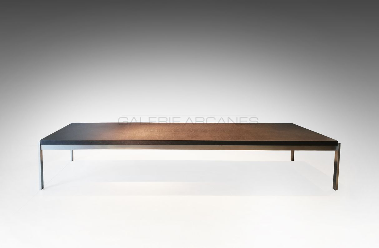 Poul-Kjaearholm-Longue-table-basse_-Galerie-Arcanes-l-Arts-Décoratifs-XXe-Art-Contemporain-Paris