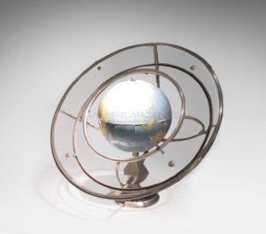 Modernistic globe, circa 1930 | Girard & Barrère