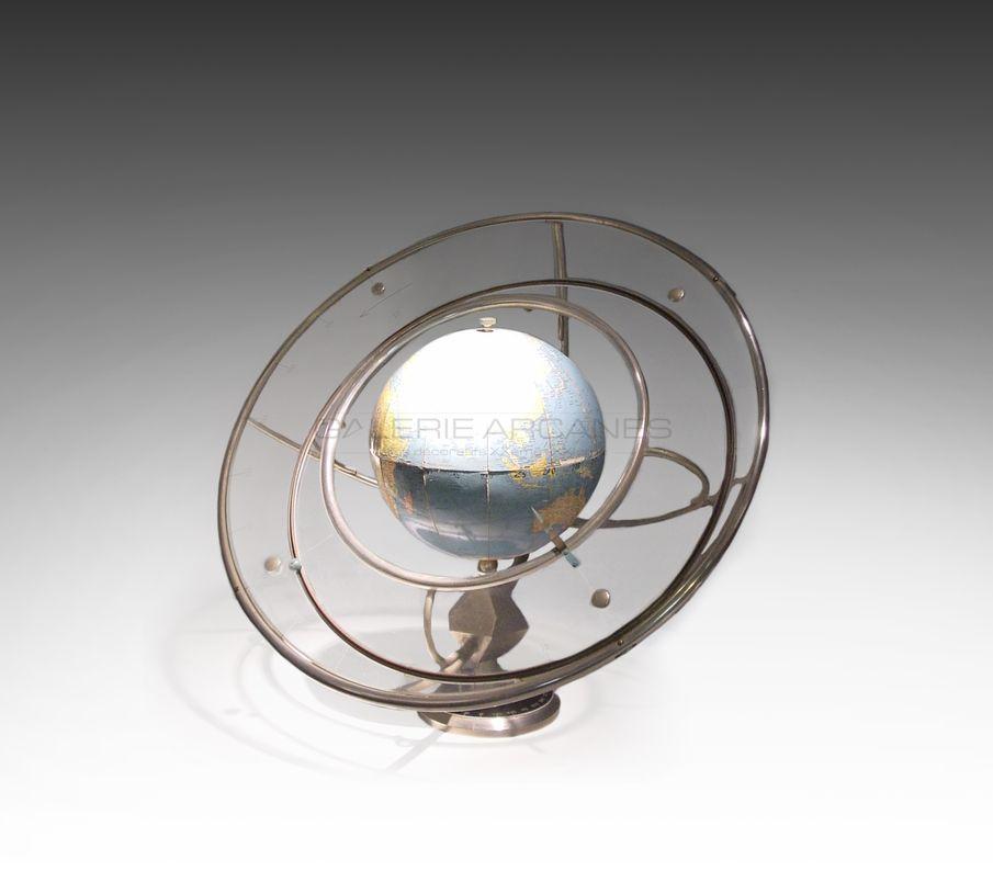 Girard & Barrère - Mappemonde_ Galerie Arcanes l Arts Décoratifs XXe - Art Contemporain Paris