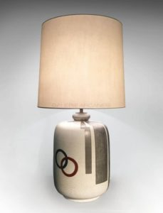 Enamelled ceramic lamp | Claude Levy