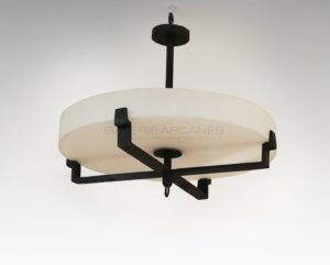 Elegant ceiling light | Jacques Quinet