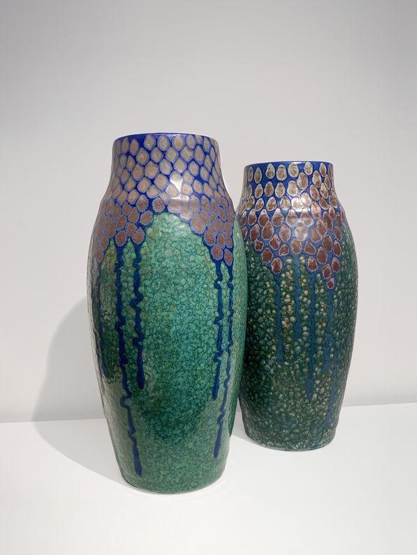 Arts Décoratifs XXe - Atelier du Revernay - Hauts vases glycine_ Galerie Arcanes l Arts Décoratifs XXe - Art Contemporain Paris