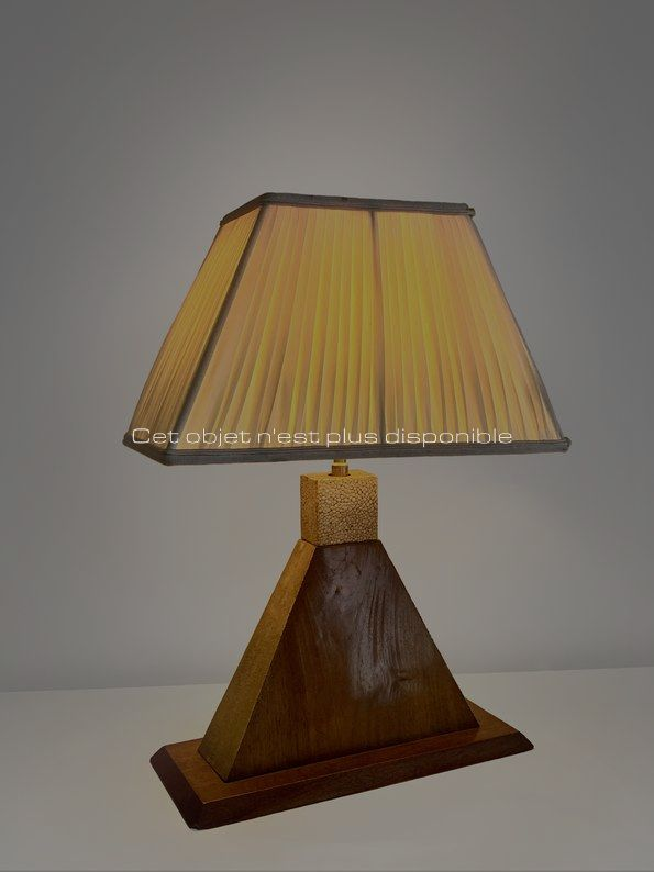 Non disponibles - Dominique - Petite lampe de table galuchat2_ Galerie Arcanes l Arts Décoratifs XXe - Art Contemporain Paris