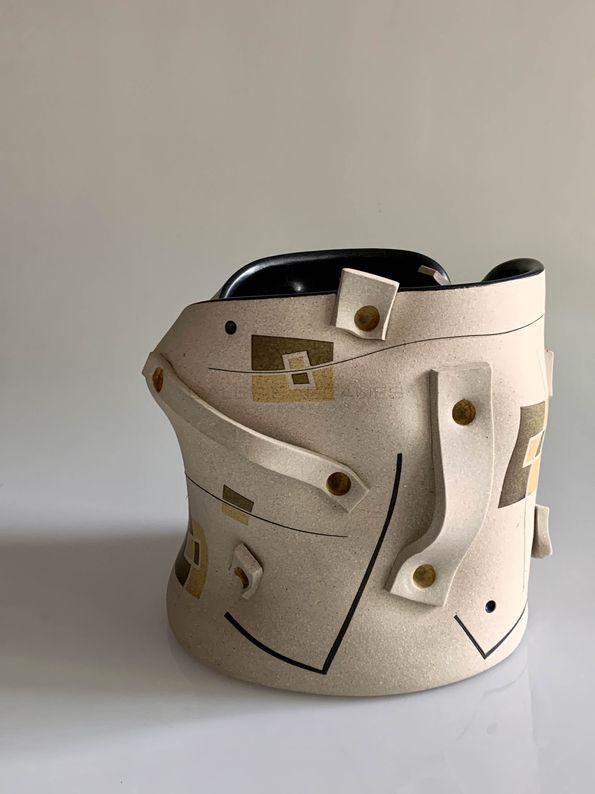 2021-05- Exceptions - Gustavo Perez Vase seau en grès2_ Galerie Arcanes l Arts Décoratifs XXe - Art Contemporain Paris