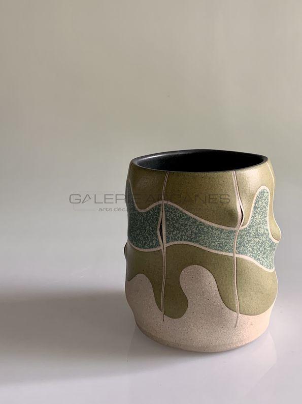 Gustavo Perez - Petit vase seau_ Galerie Arcanes l Arts Décoratifs XXe - Art Contemporain Paris