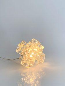Lampe de table en verre, circa 1970 | Albano Poli