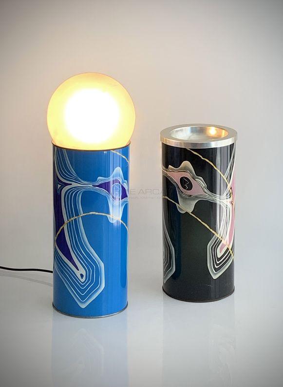 Archizoom - Duo lampe et vase sérigraphiés_ Galerie Arcanes l Arts Décoratifs XXe - Art Contemporain Paris