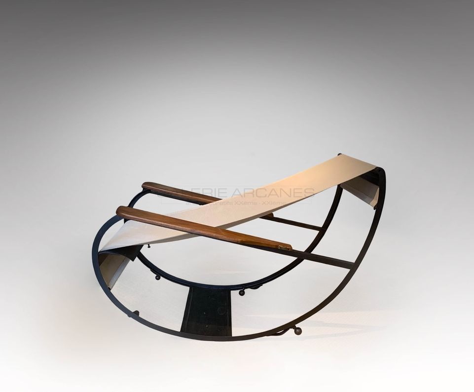 François Turpin - Grand fauteuil à bascule_ Galerie Arcanes l Arts Décoratifs XXe - Art Contemporain Paris