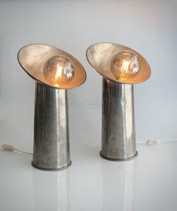 Lampes de table «Radar», étain, circa 1970 | Giani Gjilla pour Sormani