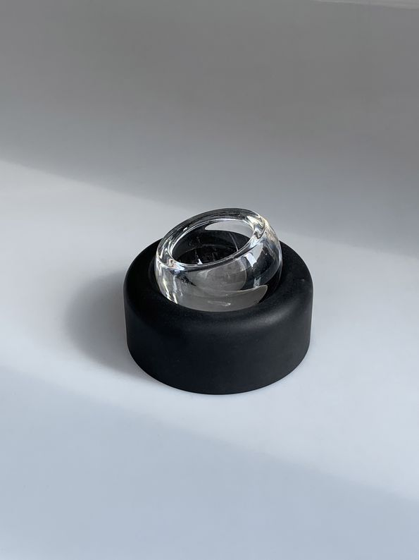 Joe Colombo - Cendrier Biglia métal et verre_ Galerie Arcanes l Arts Décoratifs XXe - Art Contemporain Paris