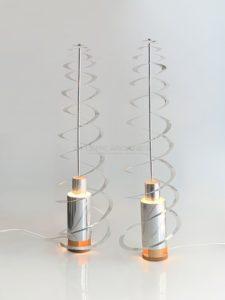 Lampe cinétique, métal nicklé, circa 1970 | Werner Epstein
